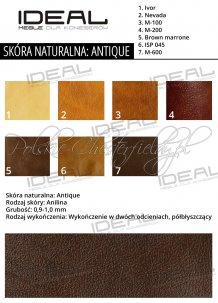Ideal Meble próbnik skóra naturalna Antique