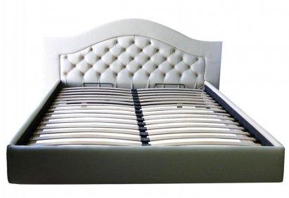 Łóżko Chesterfield Carla skórzane