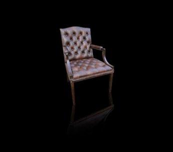 Fotel Chesterfield Morall pikowane siedzisko