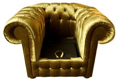 Fotel Chesterfield York Rem z pojemnikiem