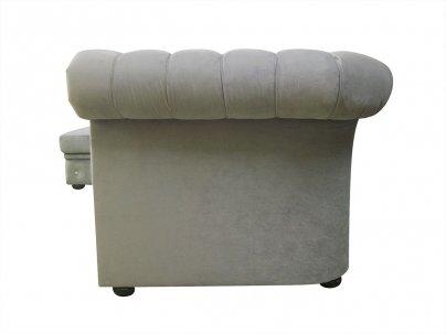 Narożnik Chesterfield Normal Relax bez boku z funkcją spania z kryształkami 180x260