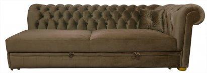 Sofa Chesterfield Normal Relax bez boku z funkcją spania
