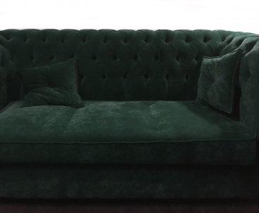 Sofa Chesterfield Violett Tall