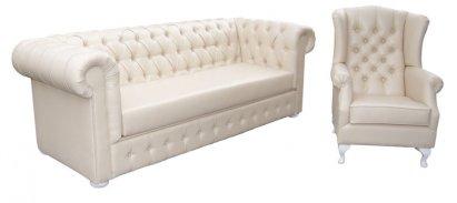 Sofa Chesterfield Ideal ekoskóra