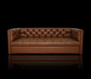 Sofa Chesterfield London z pojemnikiem w skórze