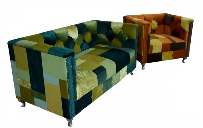 Sofa Chesterfield London Ludwik Patchwork 2