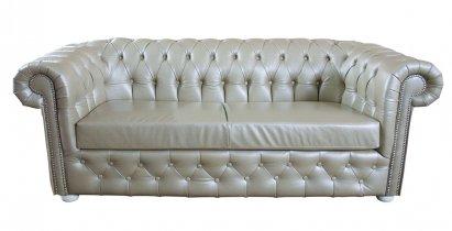 Sofa Chesterfield Normal w skórze z funkcją spania