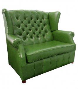 Sofa Chesterfield Uszak Old w skórze