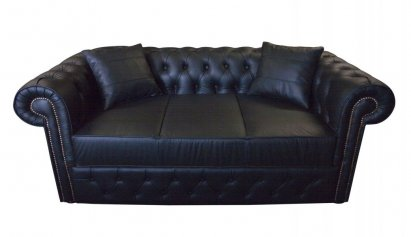 Sofa Chesterfield York skóra naturalna