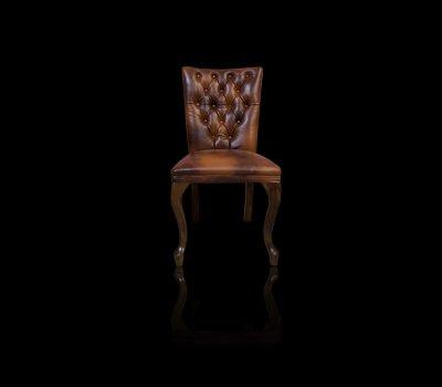 Krzesło Chesterfield Helen skóra