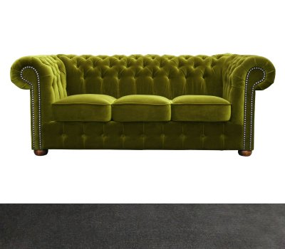 Sofa Chesterfield Classic 3 os. Paris Anthracite