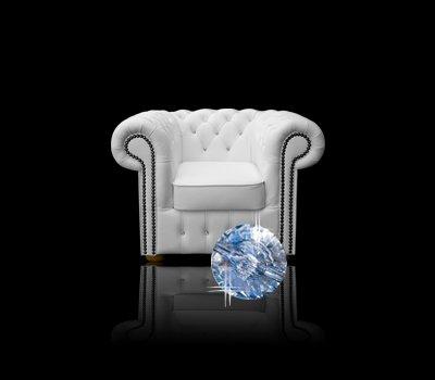 Fotel Chesterfield Classic z kryształkami Swarovskiego