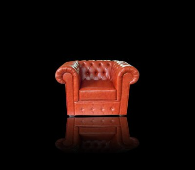 Fotel Chesterfield Ideal ekoskóra