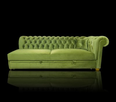 Sofa Chesterfield March Relax Rem bez boku z funkcją spania