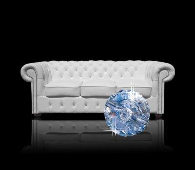 Sofa Chesterfield Classic z kryształkami Swarovskiego