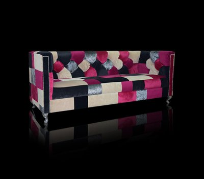 Sofa Chesterfield London Ludwik Patchwork