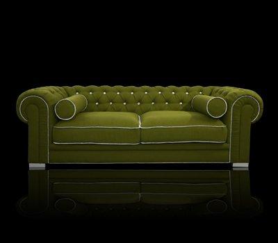 Sofa Chesterfield Somerset z kryształkami Swarovskiego