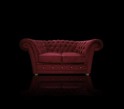 Sofa Chesterfield Winchester Old z kryształkami Swarovskiego