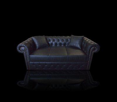 Sofa Chesterfield York skóra naturalna