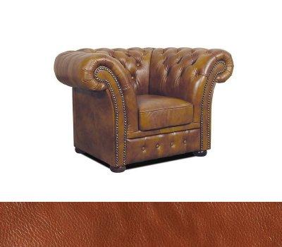 Fotel Chesterfield Winchester skóra C12 koniakowa