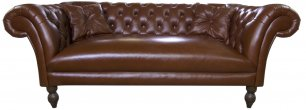 Sofa Chesterfield Diva Rem skóra 280 cm